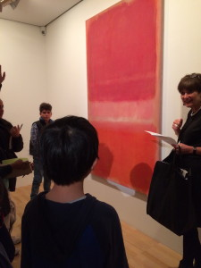 """""""The Red by Mark Rothko inspired me because it made me think a lot about my project."""" – Saki"""