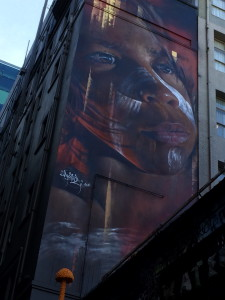 """""""My favorite place to visit was Hosier Lane because I liked the snake and the Aboriginal graffiti work."""" – Rashad"""