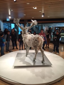 A Christmas Deer that asked us to look into the future and see what might happen to nature if we don't take more care of our world around us.