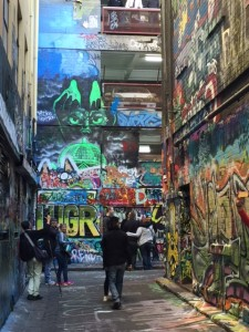"""""""My favorite place to visit was Hosier Lane because you can see different and unique art. I think you need different things in art."""" – Nyanchick"""